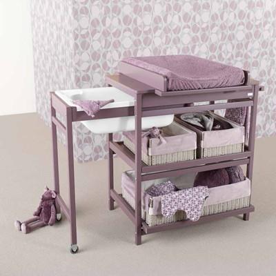 Muebles cambiador con ba era de quax for Mueble cambiador para bebe