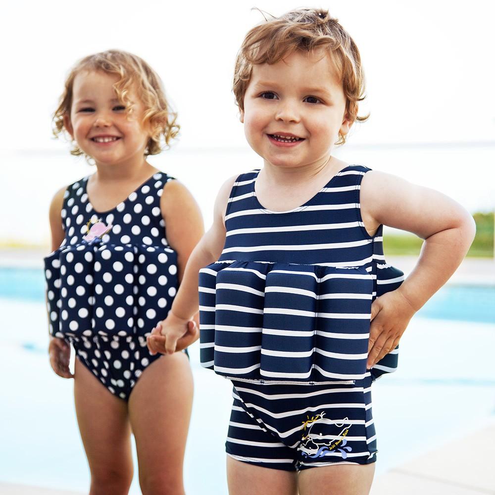 Ba adores con flotador para ni os y beb s for Banadores para bebes piscina
