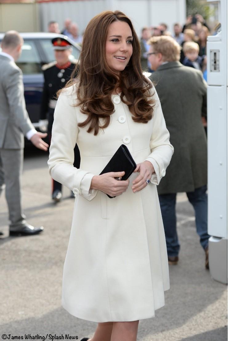 El abrigo de la Princesa Katte Middleton.
