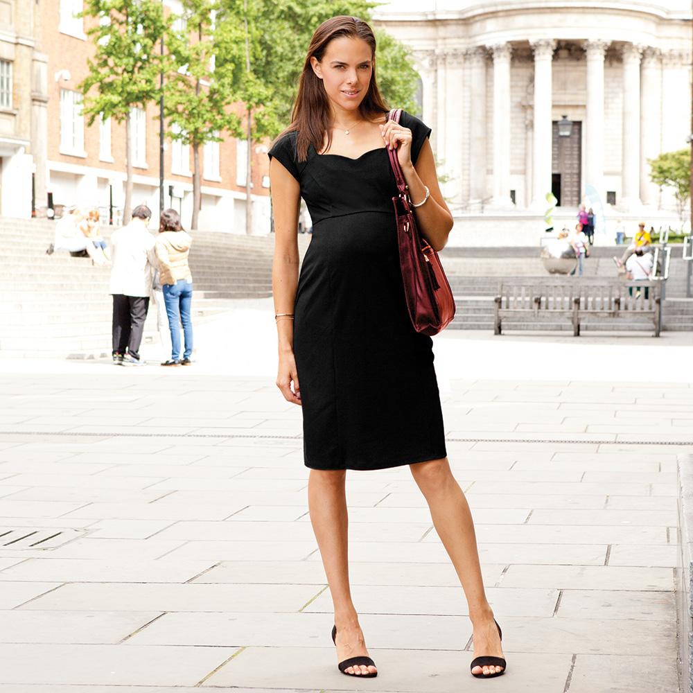 Vestido Premamá manga corta en color Negro