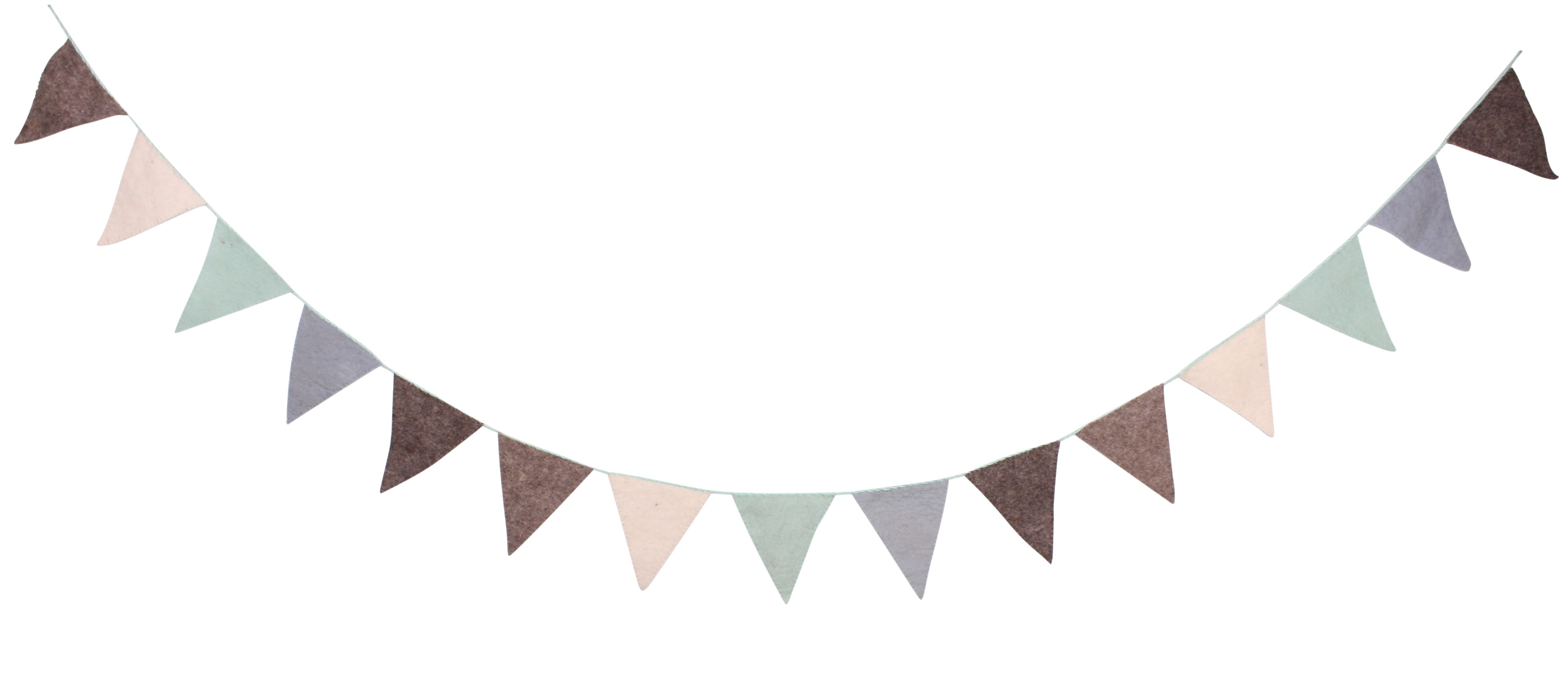 Guirnalda de Banderines Color Pastel ideal para decorar cualquier habitación infantil
