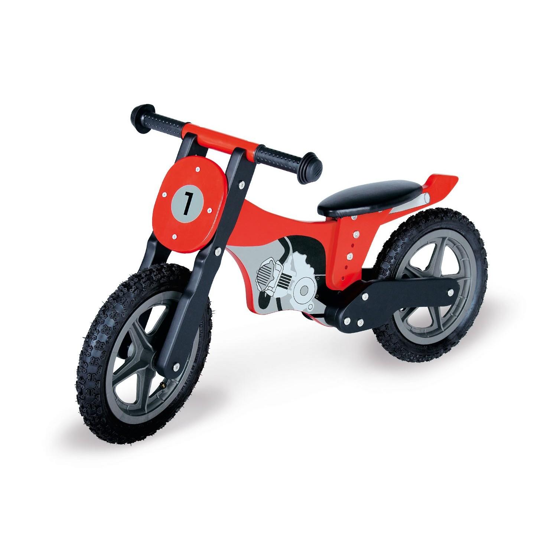 Moto de madera sin pedales roja - Pinolino