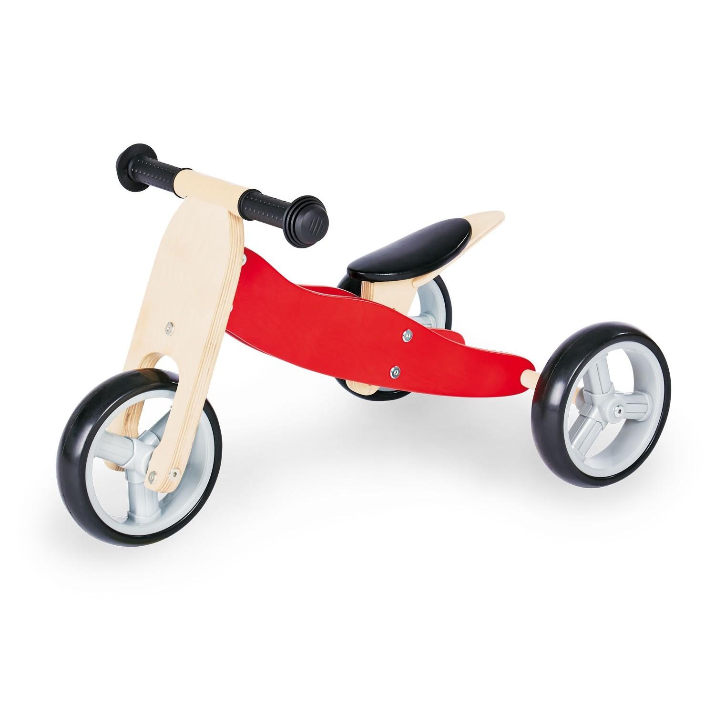 Triciclo de madera sin pedales transformable - Pinolino