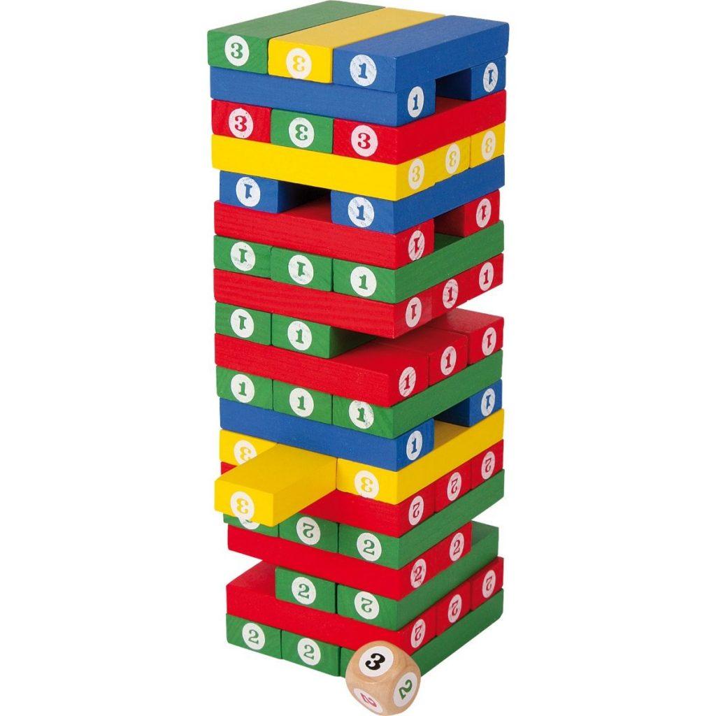 Torre de números y colores