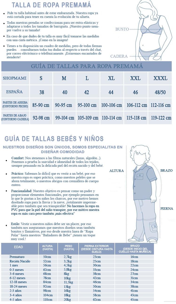 Guía de Tallas ShopMami