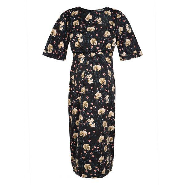 Vestido de Embarazo y Lactancia Black Floral