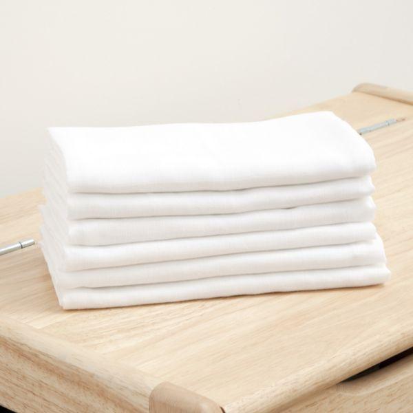 Muselinas Blancas Pack de 6 unidades