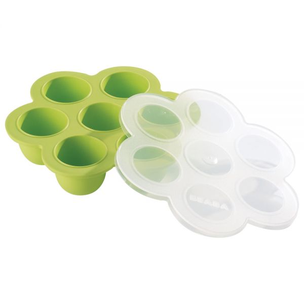 Envases para congelar papillas de Beabá. en Color Verde