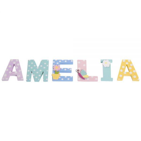 Letras de Madera Infantiles para Nombre de Niña