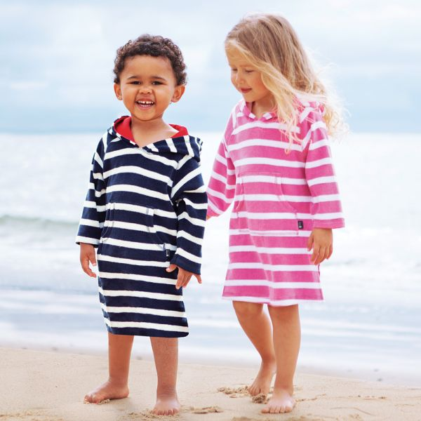 Albornoz Niños Playa y Piscina a Rayas
