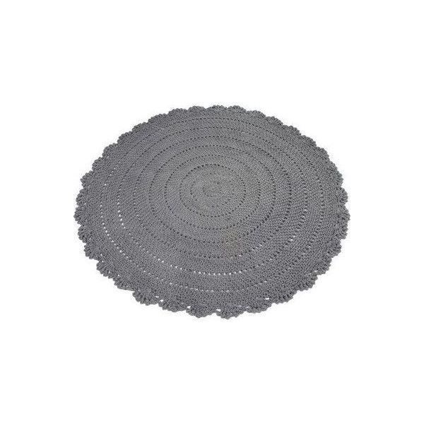 Alfombra Redonda de Trapillo color gris
