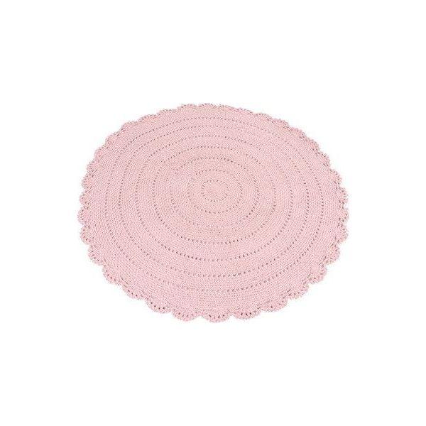 Alfombra Redonda de Trapillo color rosa