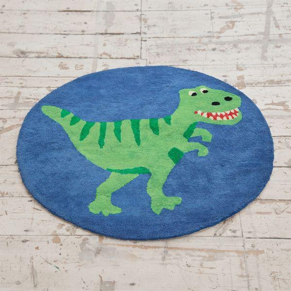 Alfombra Redonda Dinosaurio Habitación Infantil