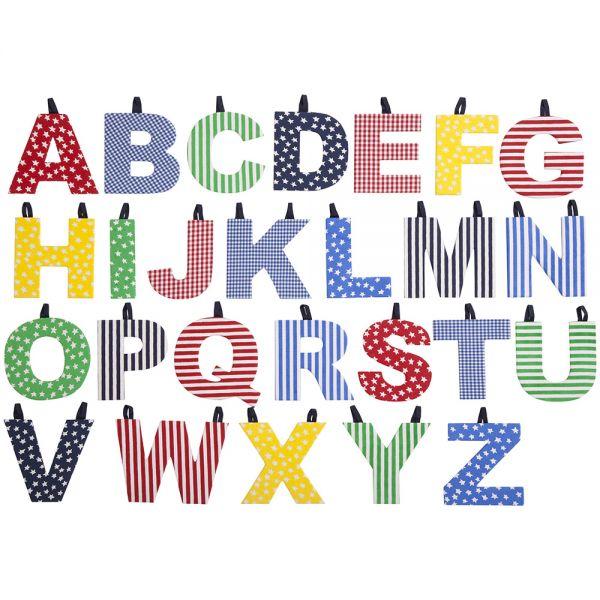 Letras de Tela Infantiles Multicolores