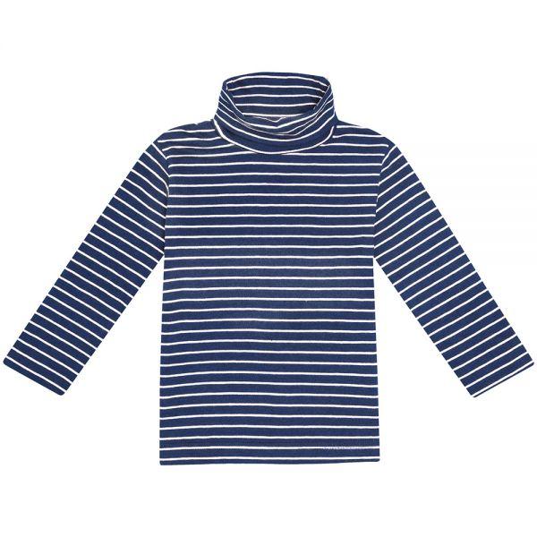 Polo Cuello Alto de Niña - Azul Marino