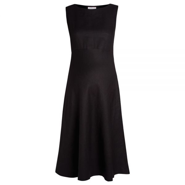 Vestido Premamá Lino Negro