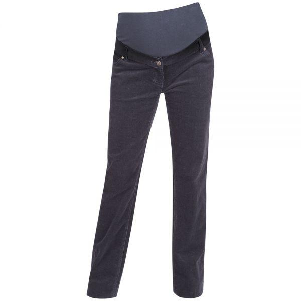Pantalón Premamá de Pana Recto - Gris Charcoal