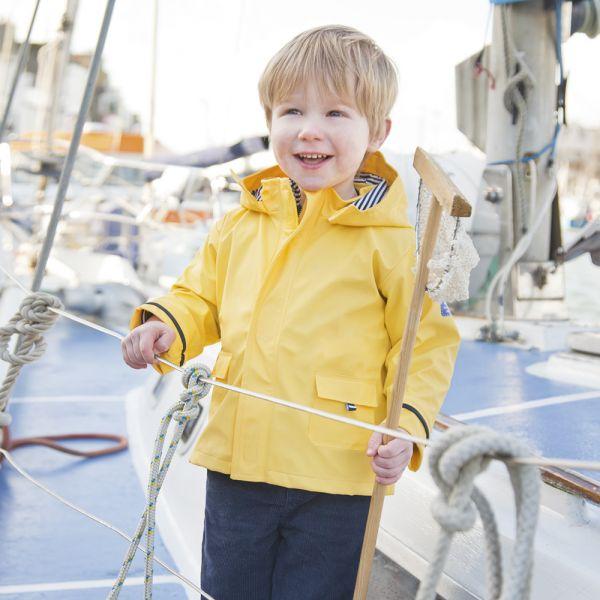 Chubasquero Amarillo para bebés y niños