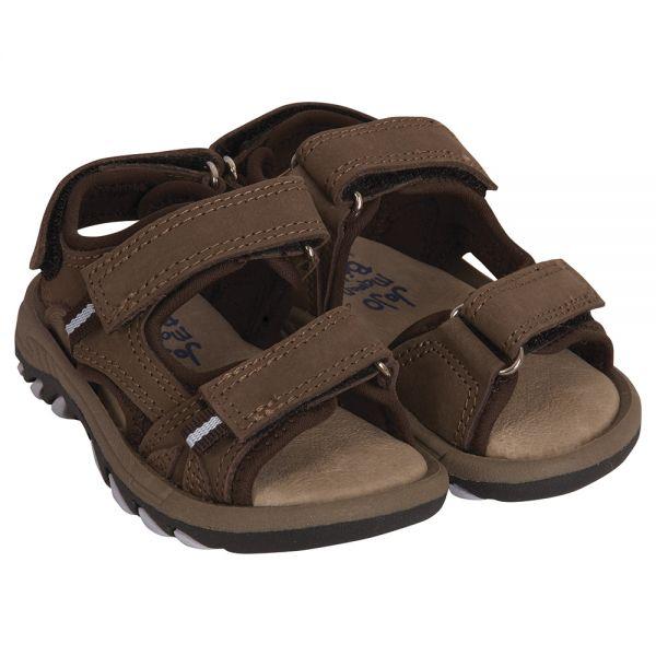 Sandalia de Piel para Niño y Bebé - Color Marrón