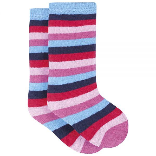 Calcetines de Niño Largos para Botas rayas rosas