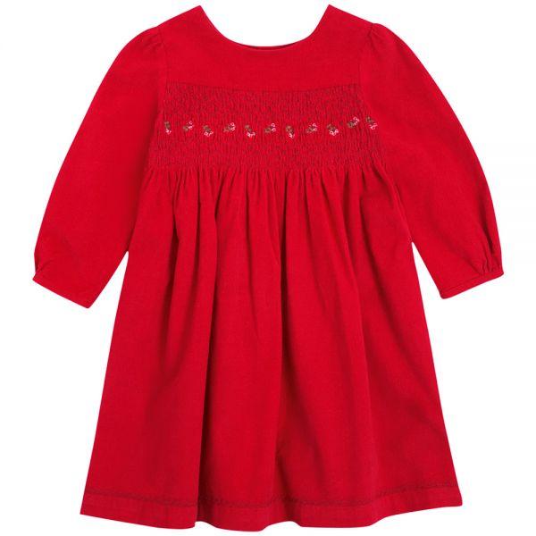 Vestido de Niña en color Rojo para la Navidad