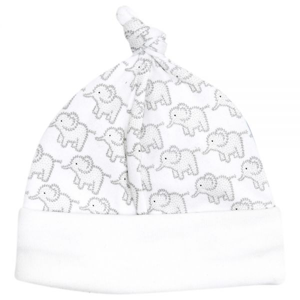Gorrito Algodón Bebés Estampado Elefantes