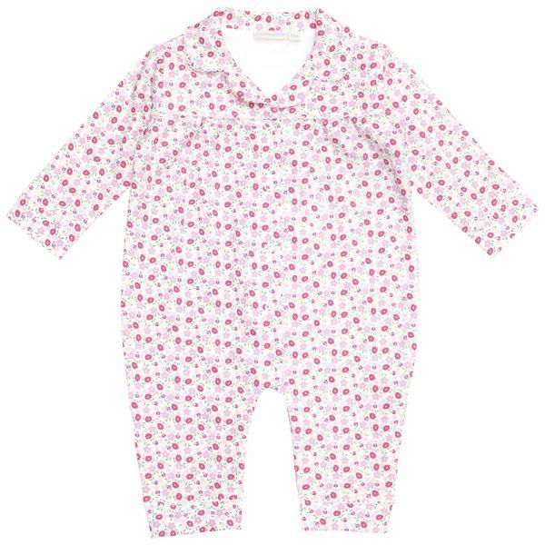 Pijama Bebé Pequeñas Flores Rosas