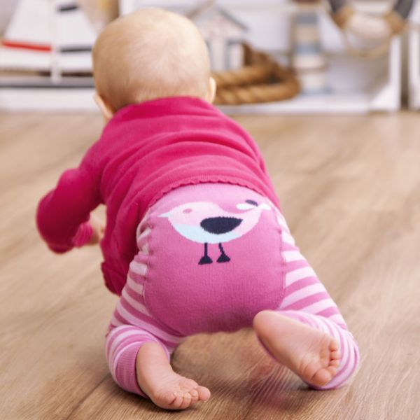Leggings para Bebés Pajarito Rosa