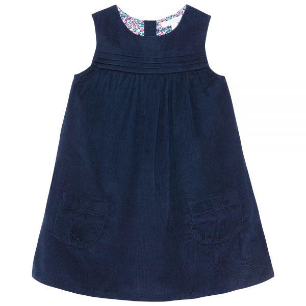 Vestido de Pana de Niña - Azul Marino