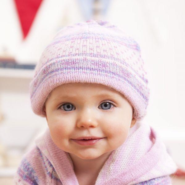 Gorro de Bebé Cachemir Rosa