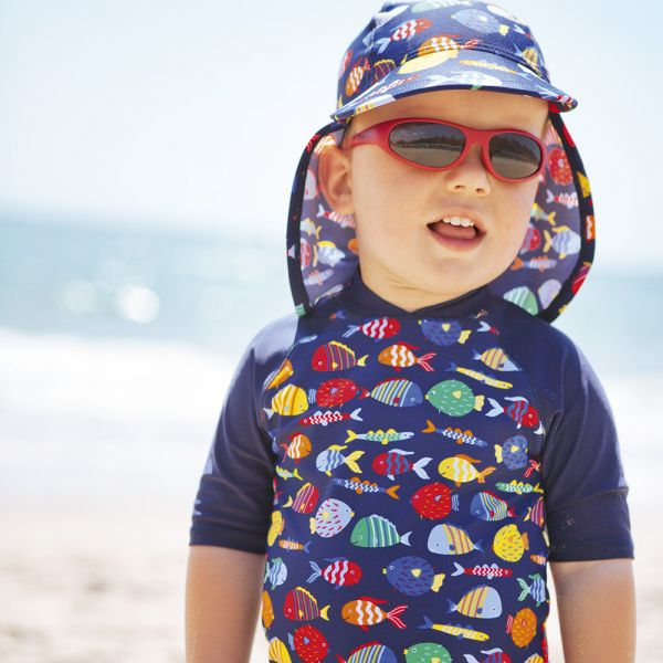 Traje de Protección Solar Peces de Colores