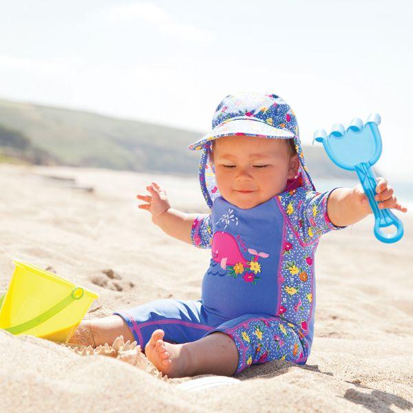 Bañador Protector Solar Niña Ballena Rosa