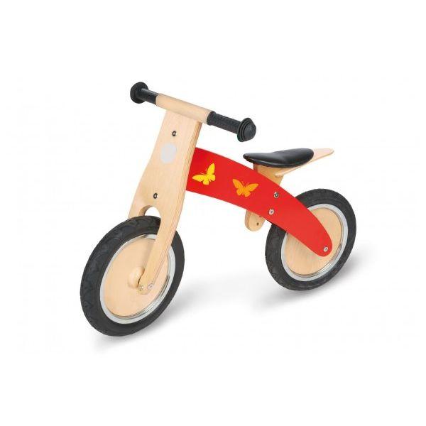 Bicicleta Sin Pedales de Madera - Color Rojo