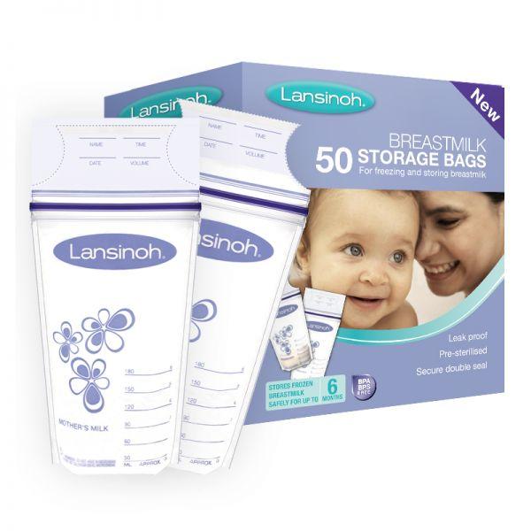 Bolsas conservación Leche Materna Lansinoh. 50 Unidades