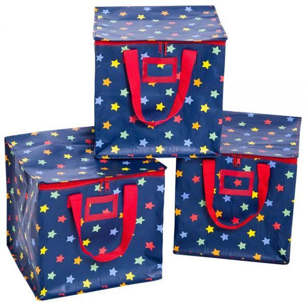 Set de 3 Bolsas de Almacenamiento Estrellas