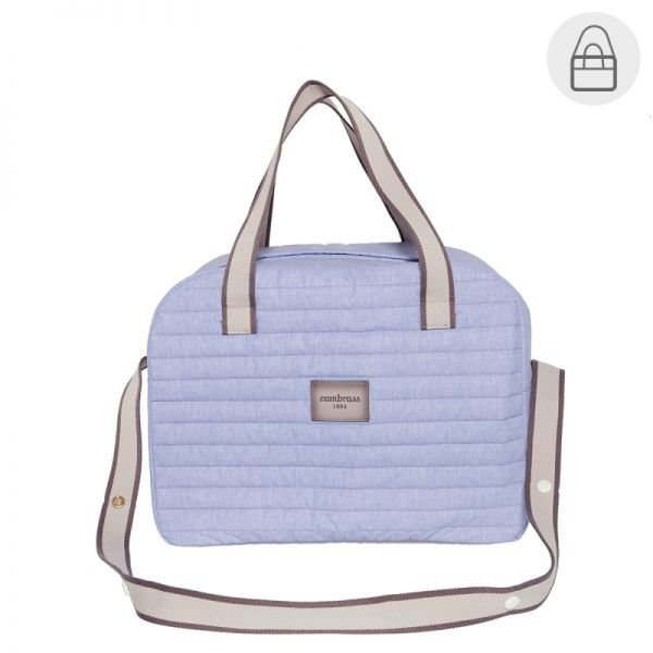 Bolso Maternal Prome Denim Azul - Cambrass