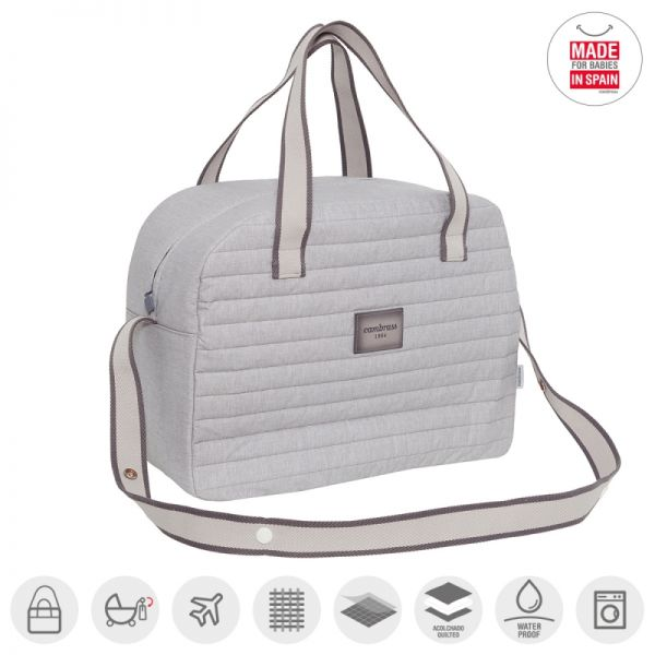 Bolso Maternal Prome Denim Gris - Cambrass