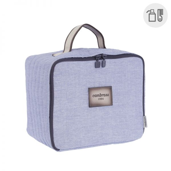 Bolso Maternal Square Denim - Cambrass