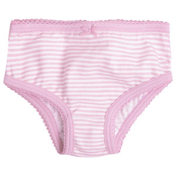 Pack de 3 pares de bragas para niña  en color rosa claro