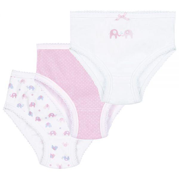 Bragas de Niña en color Rosa y blanco