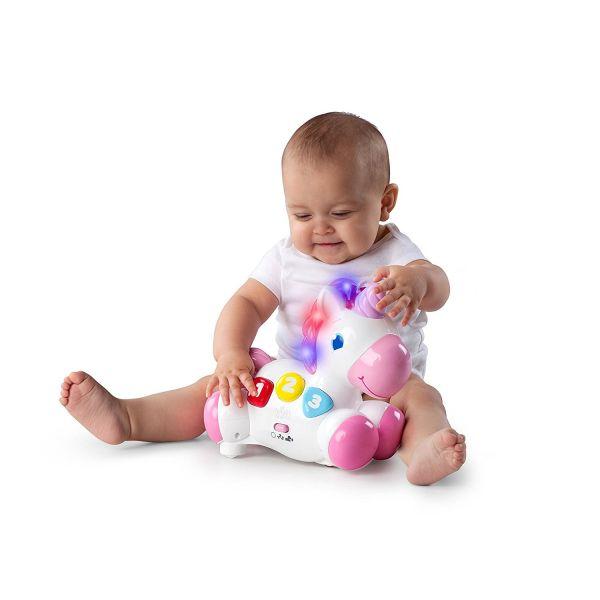 Bright Starts - Unicornio de juguete, color rosa