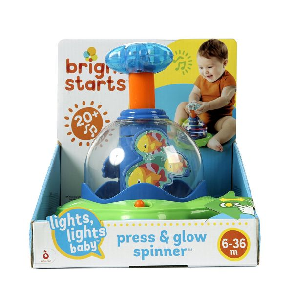 Bright Starts Press & Glow Spinner juguete