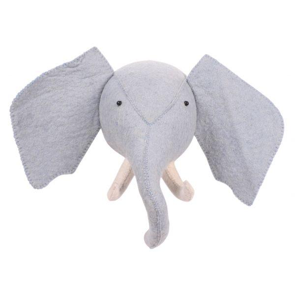 Cabeza de Elefante Decoración Pared
