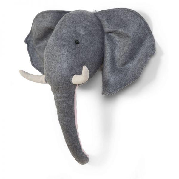 Cabeza Elefante Decoración Pared