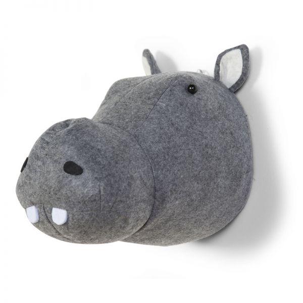 Cabeza Hipopótamo Decoración Pared