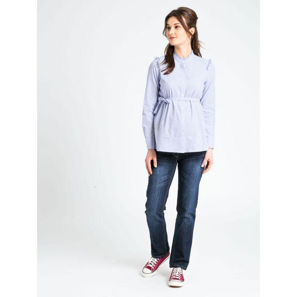 Camisa Premamá Rayas Azules