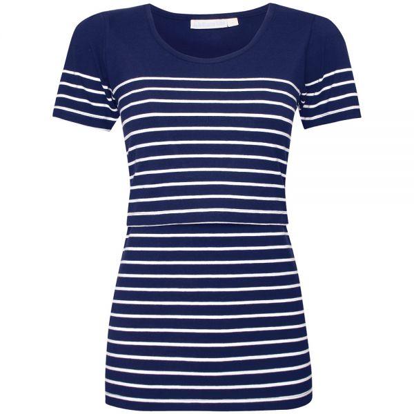 Camiseta Lactancia Azul y blanca