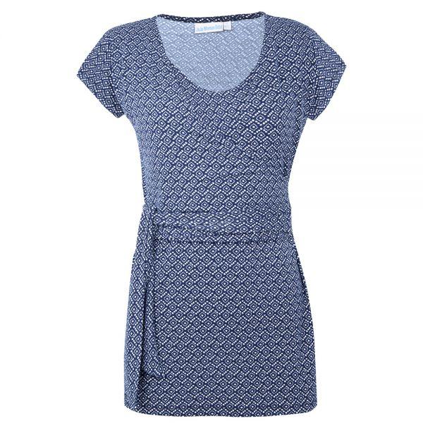 Camiseta de Lactancia Estampado Azul Batik