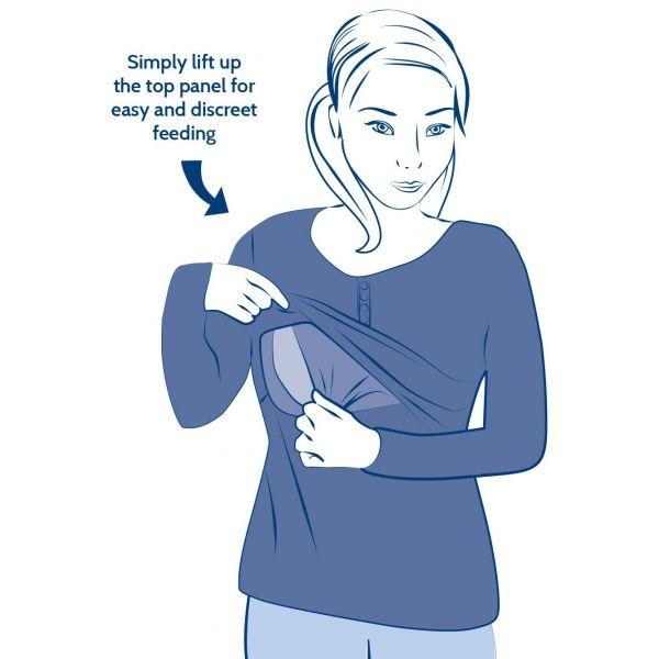 Camiseta de Pijama Embarazo y Lactancia