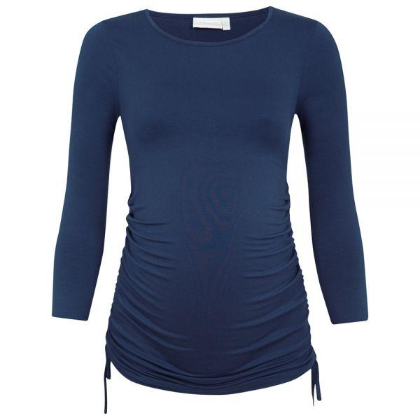 Camiseta Premamá Frunces en color Midnight Blue